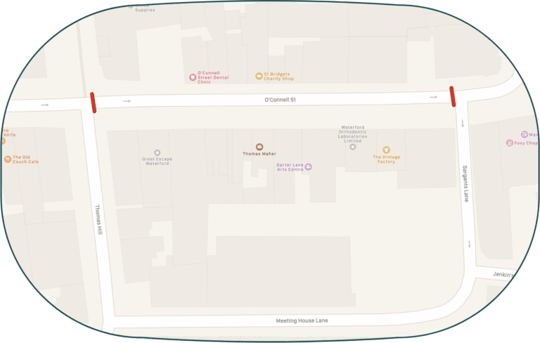 O'Connell Street Weekend Road Closure Map